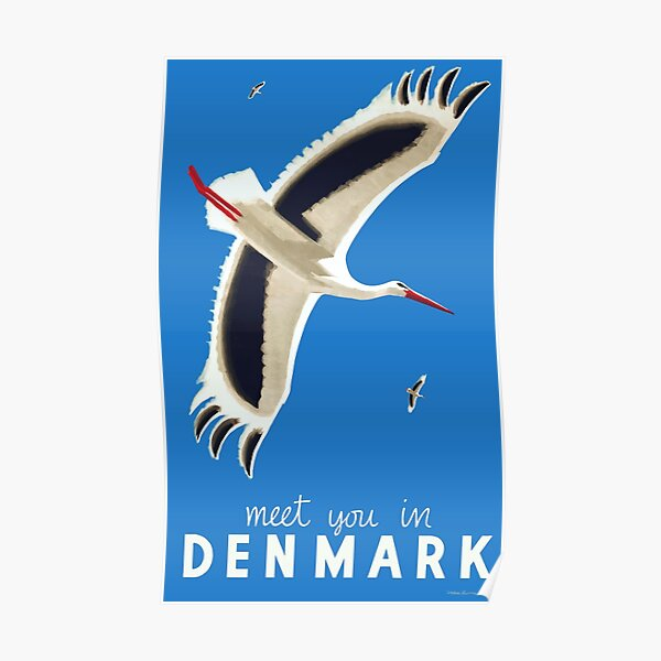 1939 Meet You In Denmark Travel Poster Poster