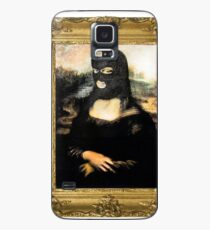 Funny Masked Mona Lisa T-Shirt Case/Skin for Samsung Galaxy