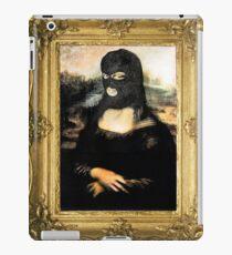 Funny Masked Mona Lisa T-Shirt iPad Case/Skin