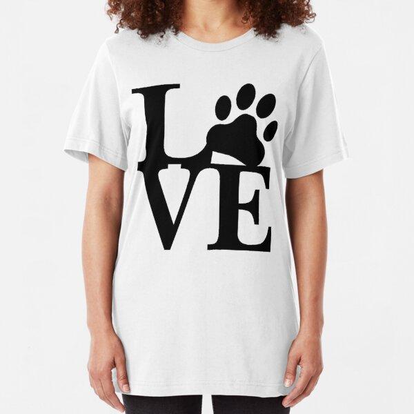 LOVE DOG PAW Slim Fit T-Shirt