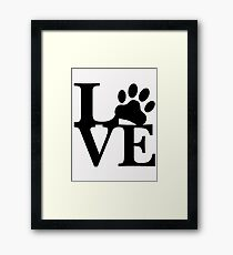 LOVE DOG PAW Framed Print