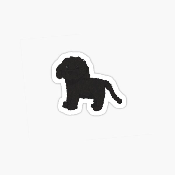 "3"" Vinyl Sticker Cute Tan Brown Furry Small Puppy Dog Wag Tail Poodle Curly Bark"