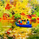 Autumn Lake by Canoe by Mike Prout