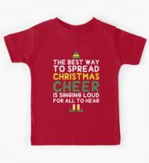 Best Way To Spread Christmas Cheer Kids Tee