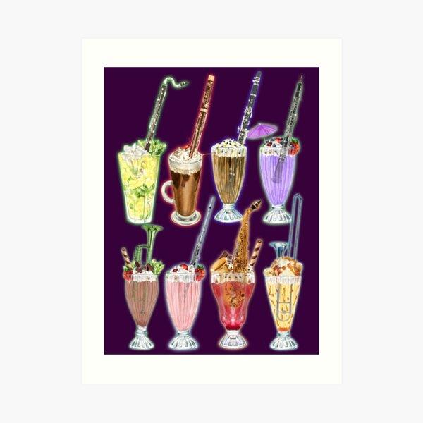 Musical Milkshakes Woodwind and Brass Art Print