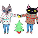 Cats in Ugly Christmas Sweaters by ssStephG
