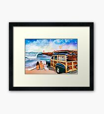 First Street Jetty Framed Print