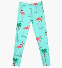 Christmas Flamingos Pattern Leggings