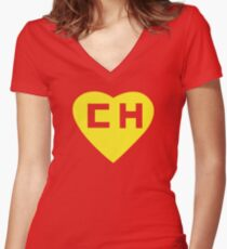 El Chapulin Colorado Women's Fitted V-Neck T-Shirt