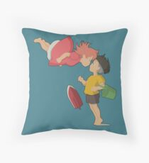 On the cliff Throw Pillow
