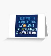 Impeach Trump for Hanukkah : Funny Chanukah Greeting Card