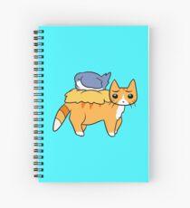 Nesting Bird and Orange Tabby Cat Spiral Notebook