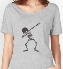 Dabbing Skeleton Halloween Funny Zombie Dab Dance  Women's Relaxed Fit T-Shirt