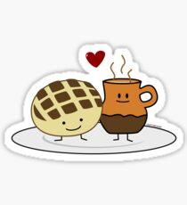 Pegatina Pan Dulce y Hot Chocolate Pan caliente Mexicano