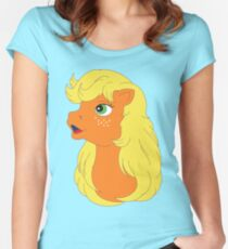 G1 my little pony applejack Women's Fitted Scoop T-Shirt