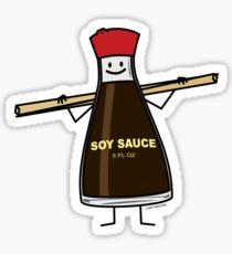 Soy Sauce Bottle condiment Asian chopsticks Sticker