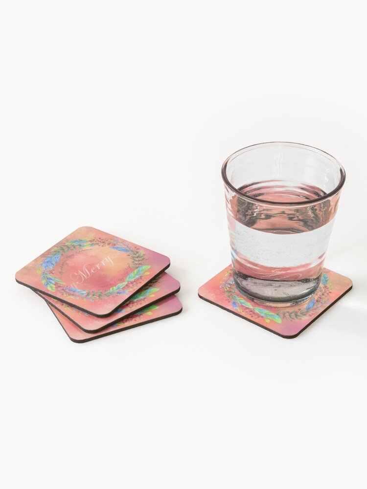 Alternate view of Merry, Merry Coasters (Set of 4)