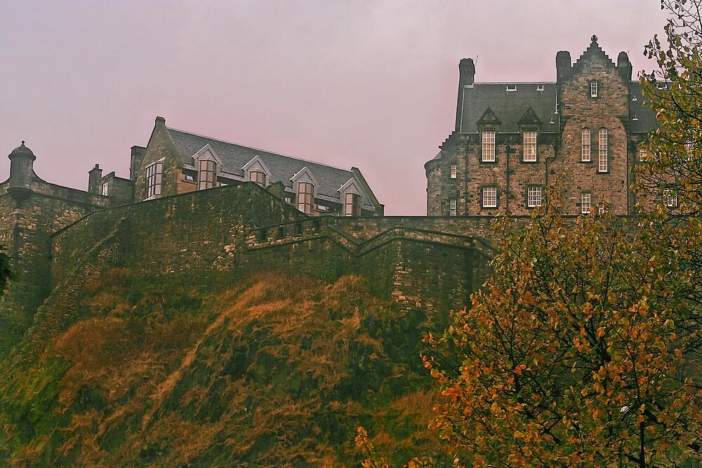 Edinburgh Castle in Autumn by Chris Clark