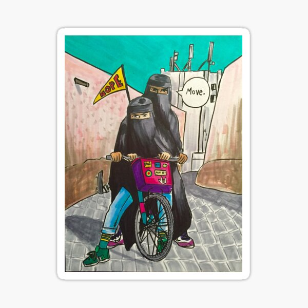 Niqabi Bikers Sticker