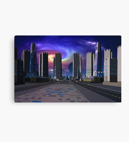Passing of the Dark Star Canvas Print