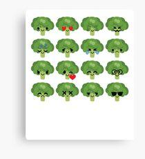 Broccoli Emoji   Canvas Print