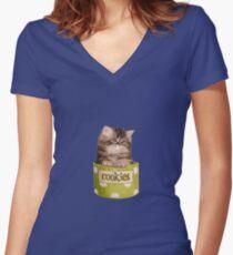 Funny Kitten Women's Fitted V-Neck T-Shirt