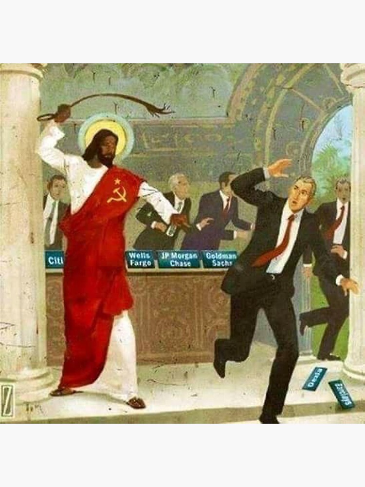 Kommunistischer schwarzer Jesus peitscht Wall Street Banker von dru1138