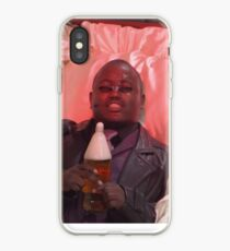 Morpheus drinking a 40 in a death basket (framed) iPhone Case