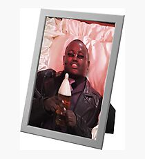 Morpheus drinking a 40 in a death basket (framed) Photographic Print
