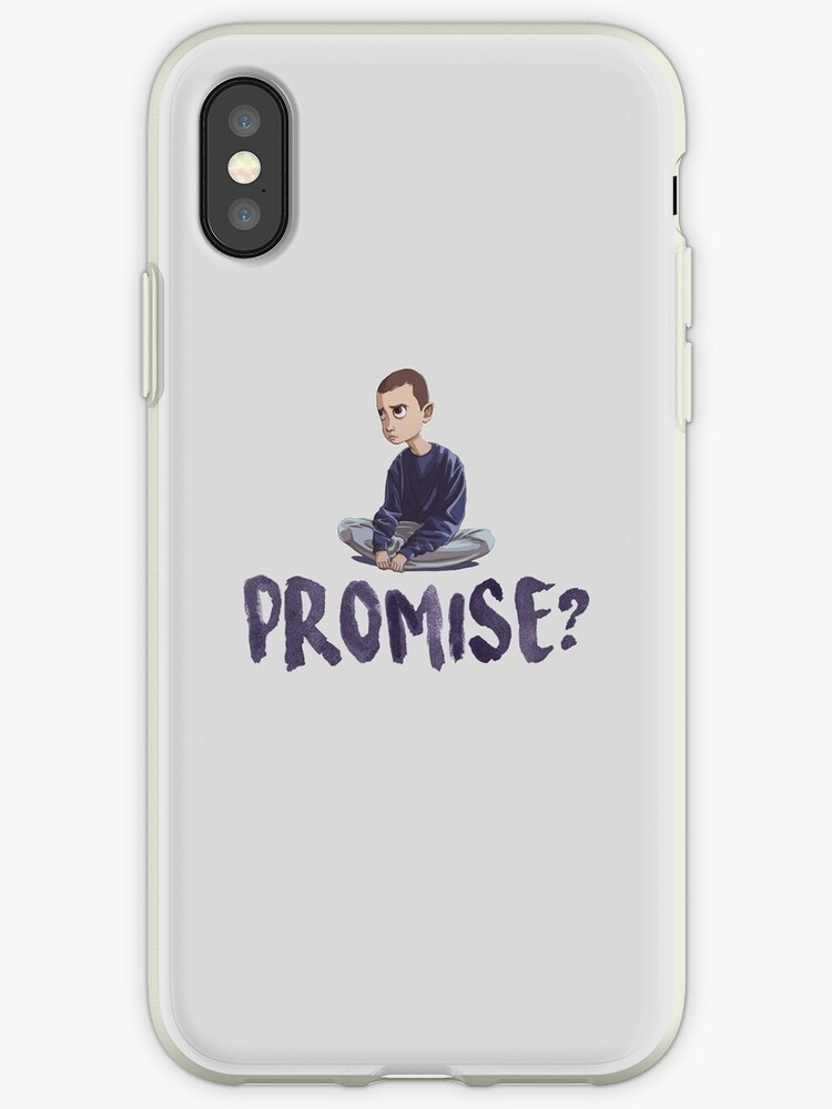 huge discount 28199 13db4 'Eleven - Promise - Stranger Things' iPhone Case by UpsideDownFans