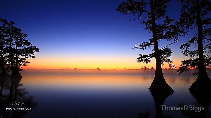 Sunrise Reelfoot Lake by ThomasRBiggs