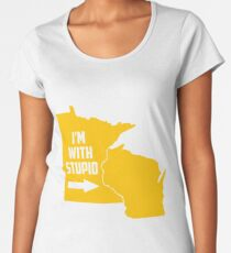 Minnesota I'm With Stupid Women's Premium T-Shirt