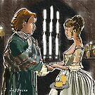 Jamie and Claire's wedding by jennyjeffries