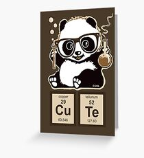 Chemistry panda discovered cute Greeting Card
