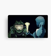 MasterChief & Cortana Canvas Print