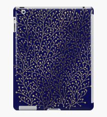 Gold Berry Branches on Navy iPad Case/Skin