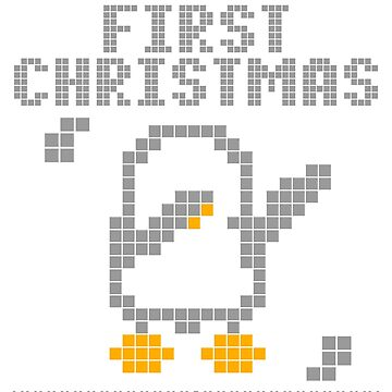 Cute Xmas penguin pixel dabbing first christmas by bestdesign4u
