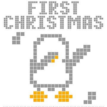 Cute Xmas penguin pixel dabbing first christmas by bestdesign4u