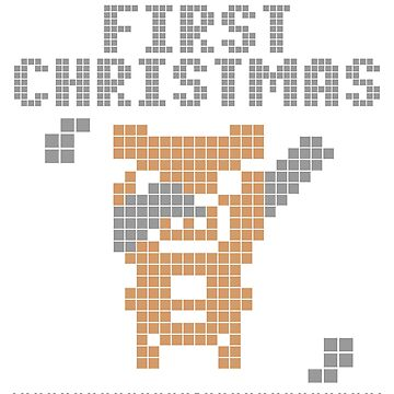 Cute Xmas pig pixel dabbing first christmas by bestdesign4u