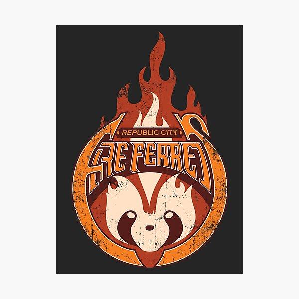 Vintage - Republic City Fire Ferrets Photographic Print