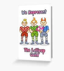 Lollipop Guild Greeting Card
