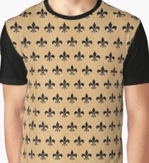 ROYAL1 BLACK MARBLE & NATURAL WHITE BIRCH WOOD Graphic T-Shirt