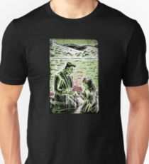Frankenstein Boris Karloff girl flower classic picture show movie film hollywood famous monster of filmland T-Shirt