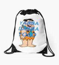 Yabba Dabba Yolo Blue Drawstring Bag
