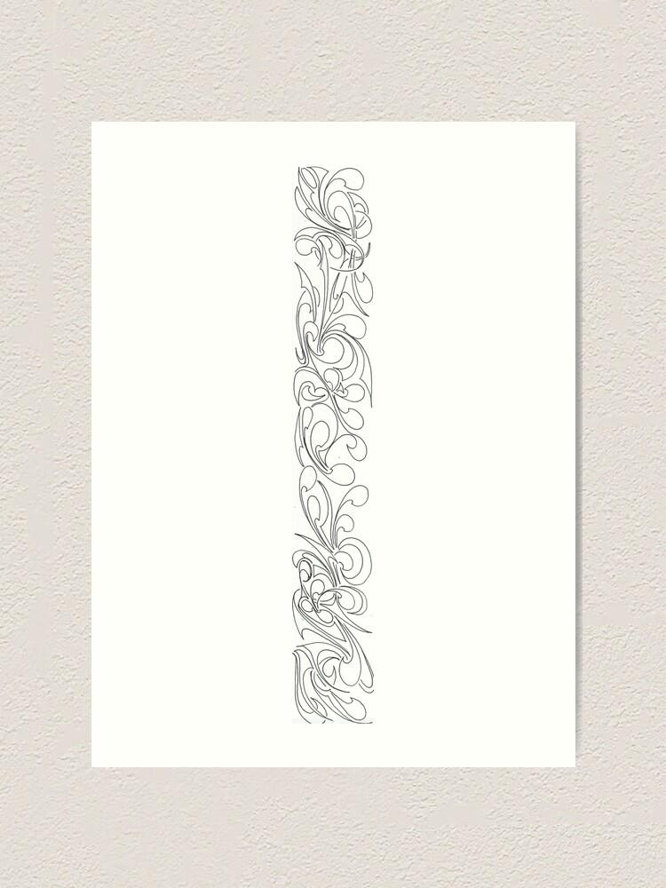 Alternate view of Border doodle Art Print