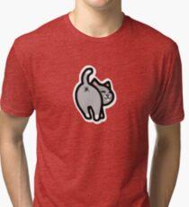 Bitmoji Cat Butt Shirt Tri-blend T-Shirt