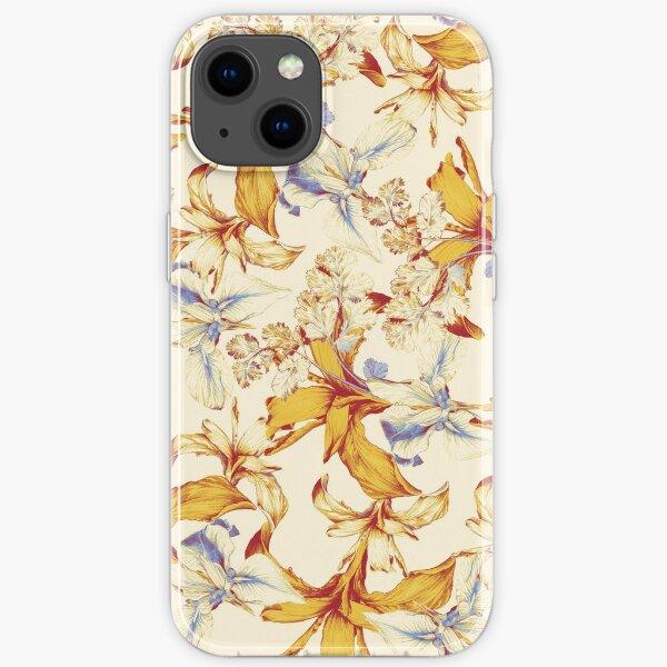 Irisses & Coriander Pattern iPhone Soft Case