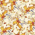 Irisses & Koriander Muster von lascarlatte
