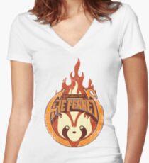 Vintage - Republic City Fire Ferrets Women's Fitted V-Neck T-Shirt