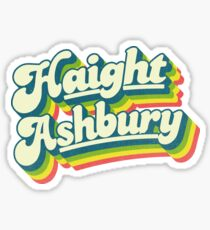 Haight-Ashbury   Retro Rainbow Sticker